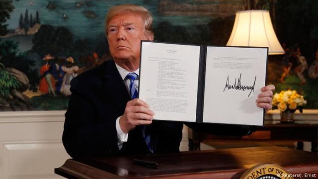 USA PK President Donald Trump zum Atomabkommen mit Iran (Reuters / J. Ernst)