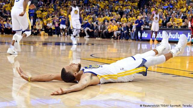 5. Bildergalerie Sportfoto Mai 2018 Stephen Curry von Golden State Warriors (Reuters / USA TODAY Sports / K. Terada)