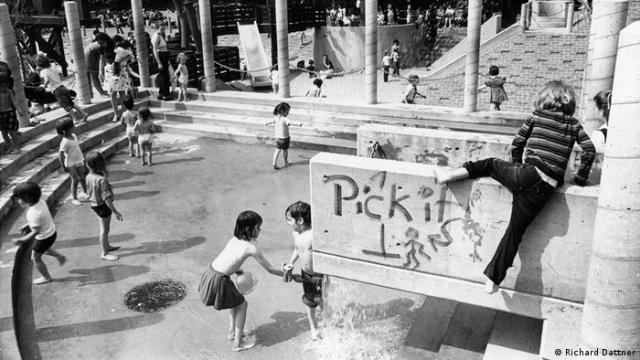 A water playground in New York (Richard Dattner)