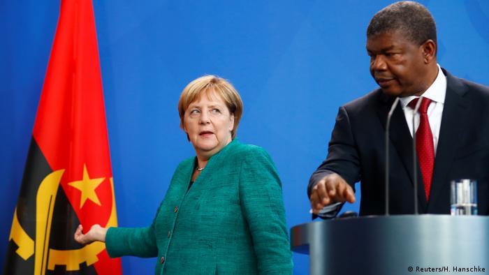 German Chancellor Angela Merkel Angolan President Joao Lourenco Southern Africa Jpg