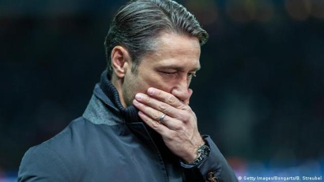 Fußball Bundesliga l Hertha BSC Berlin vs Bayern München 2: 0 l Trainer Nico Kovac (Getty Images / Bongarts / B. Streubel)