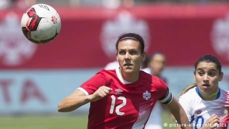 Fußballerin Christine Sinclair (picture-alliance / empics)