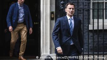 UK Iran Krisis | Außenminister Jeremy Hunt (picture-alliance / ZUMAPRESS.com / R. Pinney)