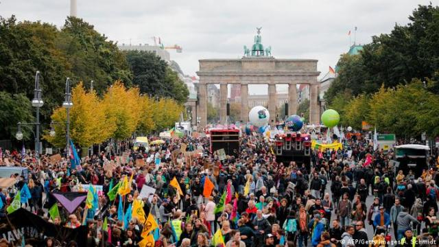 Thousands gathered calling for climate action