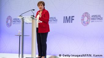 USA Washington | Internationaler Währungsfonds | Kristalina Georgiewa, Direktorin (Getty Images/AFP/N. Kamm)