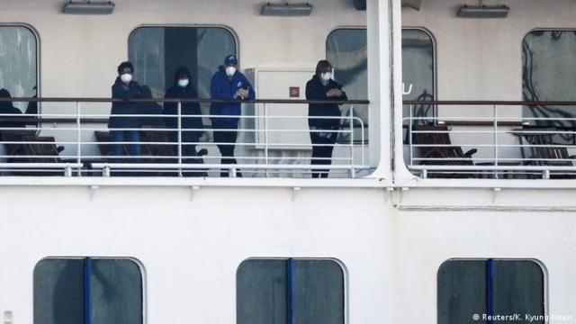 Cruise ship Diamond Princess am Daikoku Pier Cruise Terminal in Yokohama (Reuters/K. Kyung-Hoon)