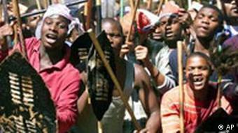 Zulu Demonstration in Johannesburg