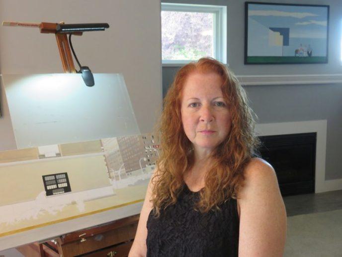 Deborah Wachter in her studio