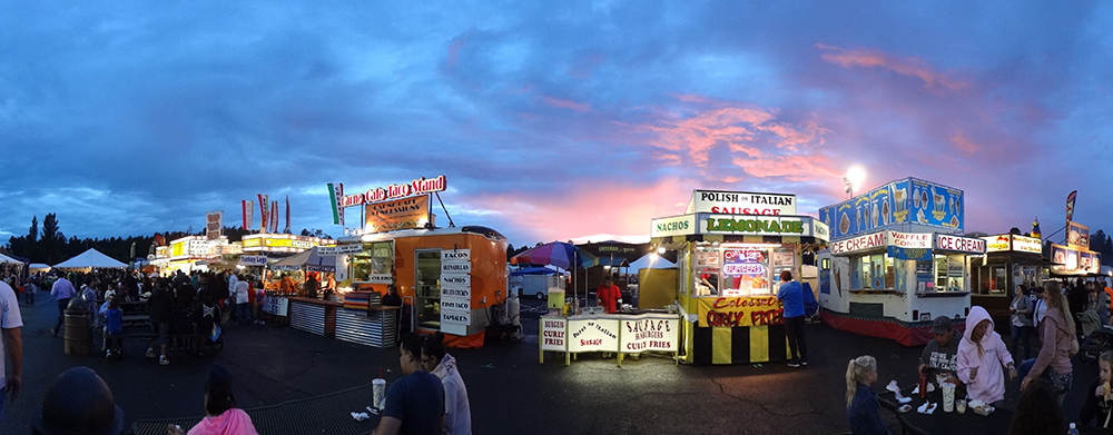 Coconino County Fair midway, northern AZ.
