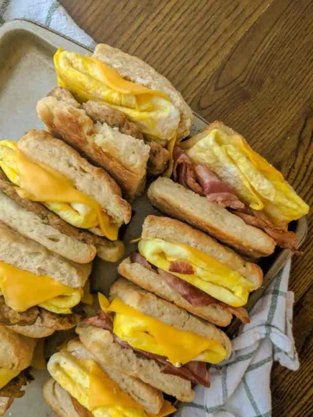 Homemade turkey breakfast sausage sandwiches
