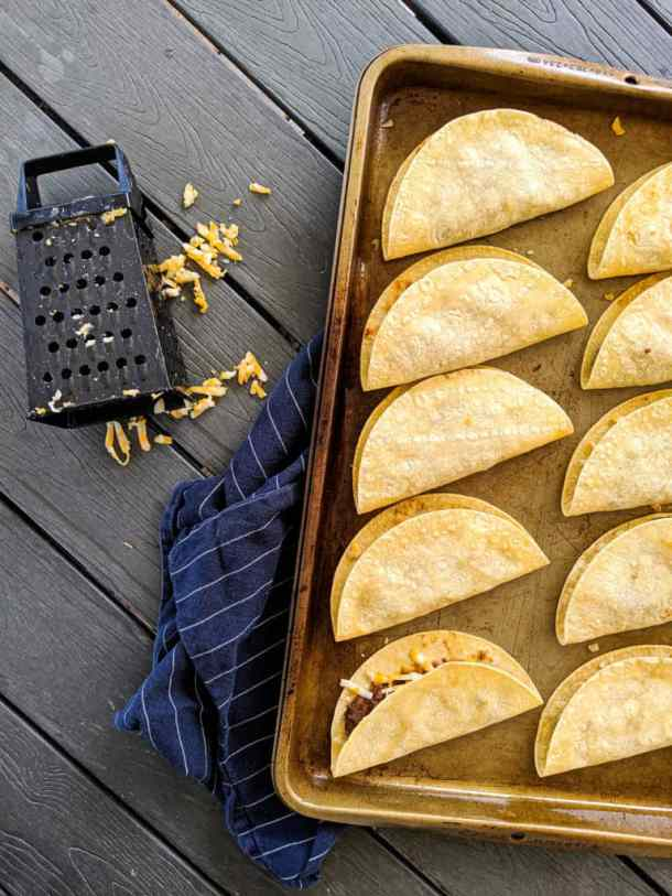 Dwardcooks Baked Beef and Cheese Tacos Cheese