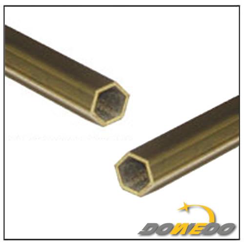Round Pipe Alloy Brass Hexgonal Tube