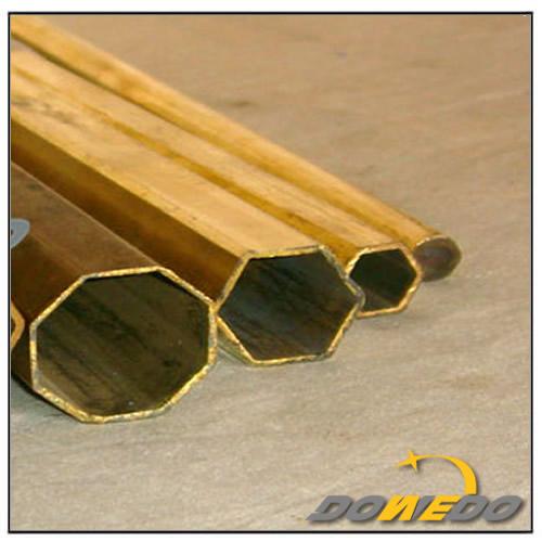 Thick Wall Hexagonal Brass Pipe