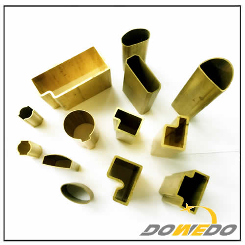 Special Shaped Decorative Brass Tubing