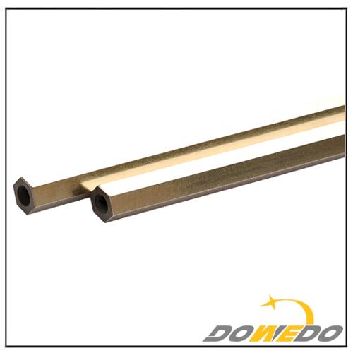 Hollow Hexagon Brass Rod