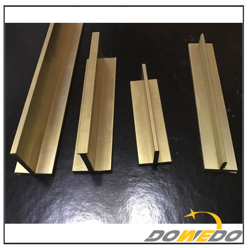 T shape Brass Extrusions