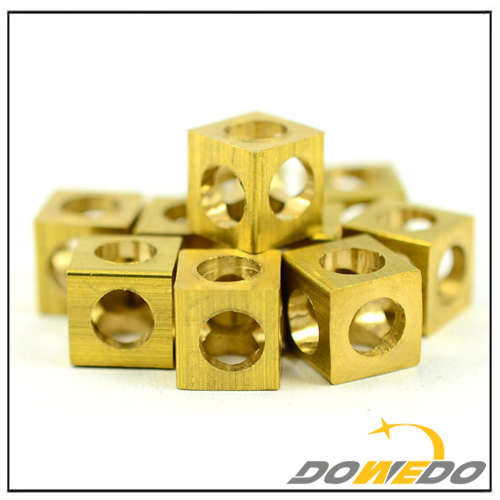 Brass Square Cube Findings