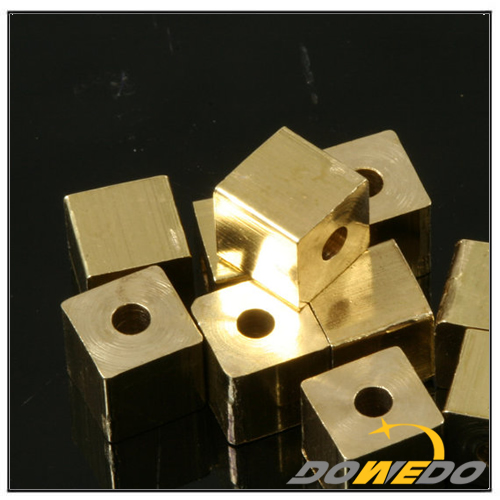 Smooth Edge Square Brass Beads