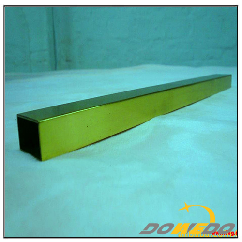 Square Polished Brass Pipe