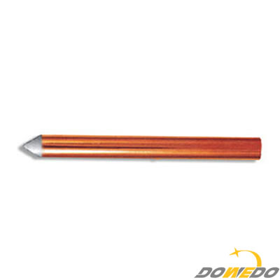 Mechanically Claded & Coated Copper Grounding Rod