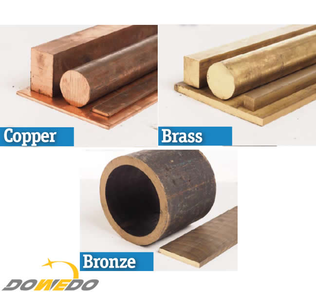Difference Between Bronze, Brass and Copper