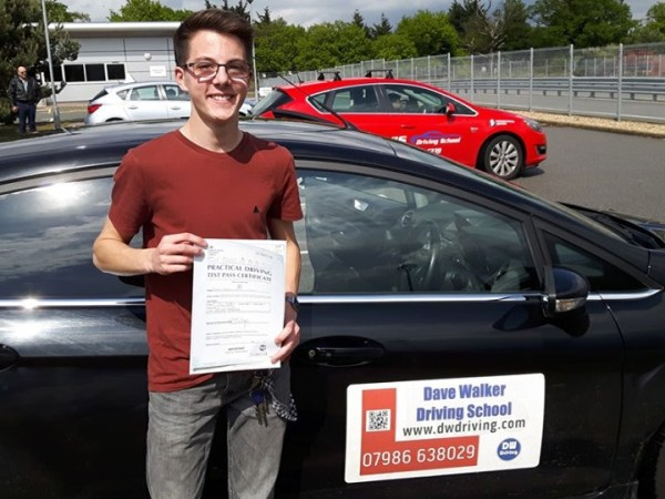 Driving Lessons StowmarketCongratulations to Josh Cracknell who passed his practical driving test on his first attempt, with only 2 minor faults, at the Ipswich Driving Test centre on 10th May. Enjoy getting out in your car - no more getting wet going to work !!!