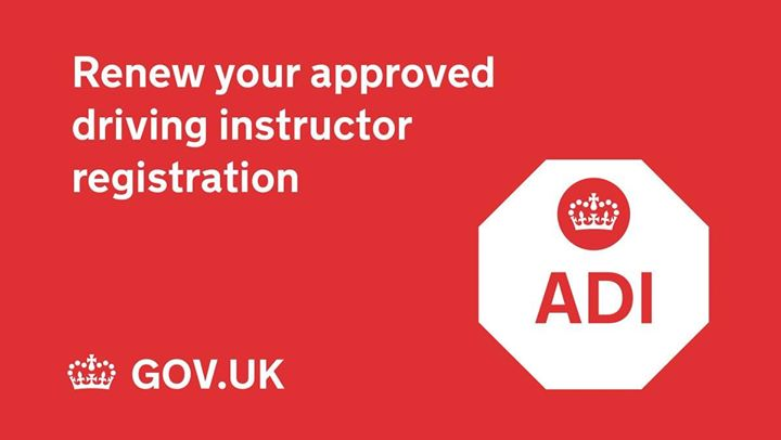 Does your ADI badge run out at the end of May? Renew it online today ✅https://www.gov.uk/renew-approved-driving-instructor-adi-registration