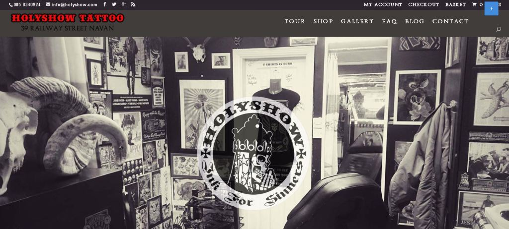 Holyshow Tattoo Website dweb