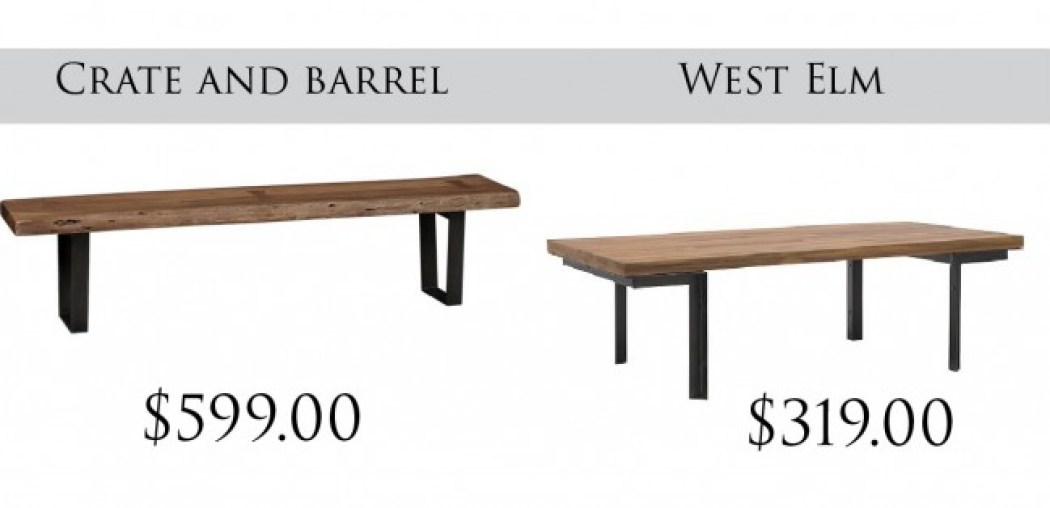 crate and barrel coffee tables