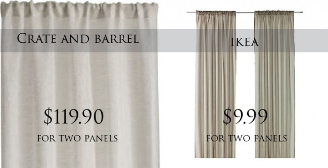 crate and barrel curtains