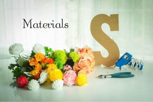floral initial materials