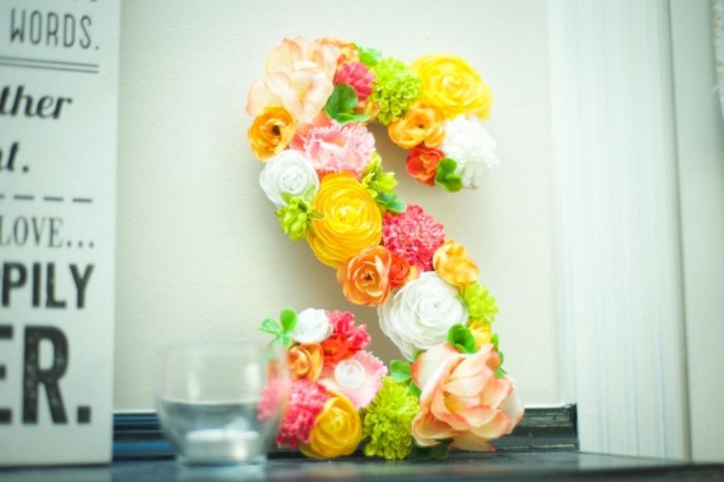 floral initial detail