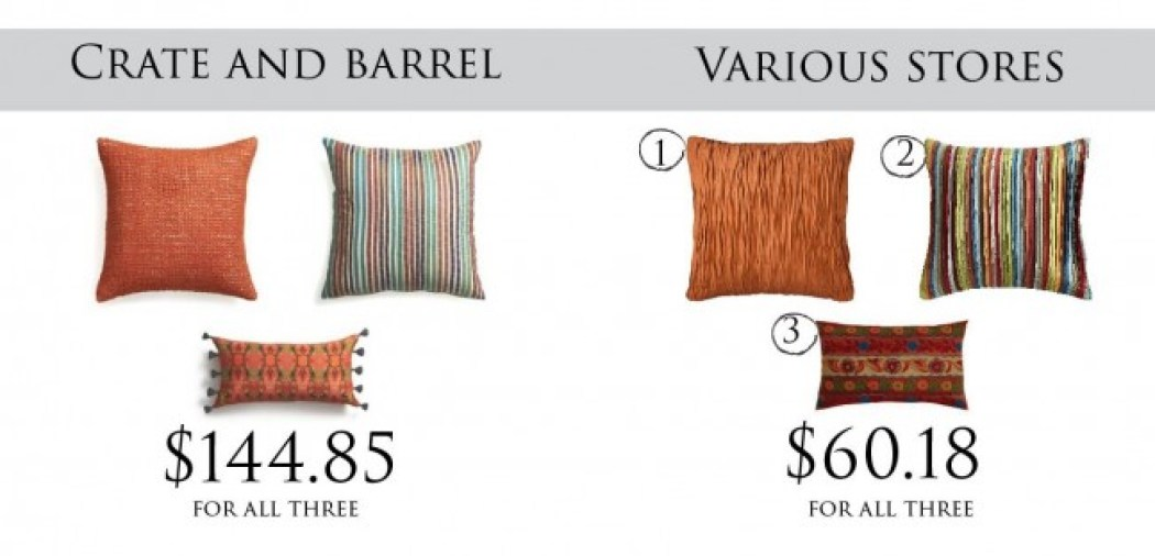 crate and barrel pillows