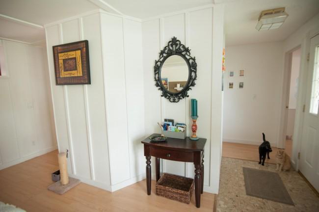 house tour cottage entryway drop zone