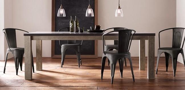 rustic industrial dining room