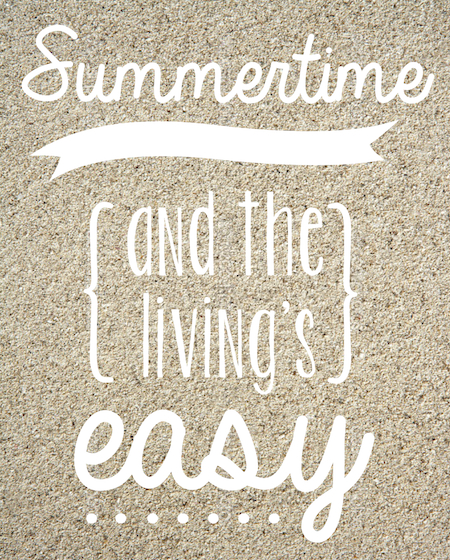 summertime printable quote