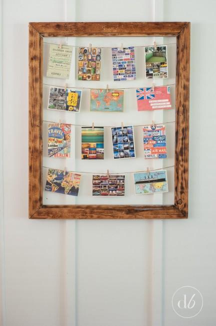 clothespin photo display