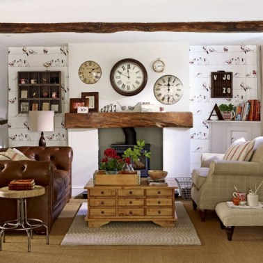 surprising industrial farmhouse living room design ideas | Farmhouse Decorating Ideas: How to Get the Look - Dwell ...