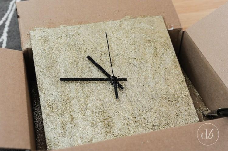 ikea hack glitter clock