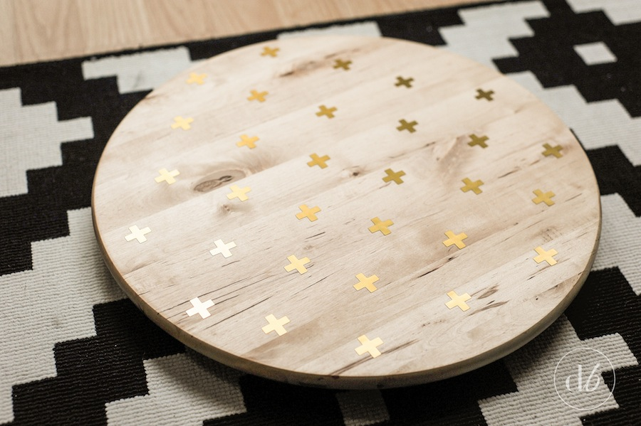 lazy susan silhouette makeover