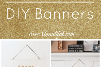 silhouette diy glitter banners