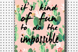 printable quote cactus print