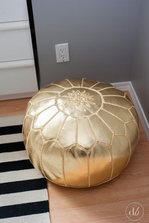 wayfair pop of color decorating with gold