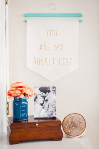 bucket list hanging wall banner