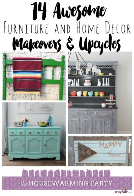 wayfair housewarming party: furniture makeovers and home decor upcycles