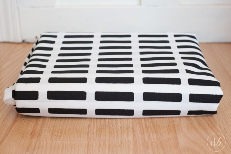 marimekko fabric diy floor pillow