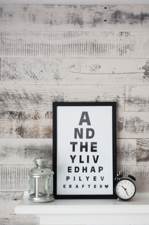 eye chart quote art