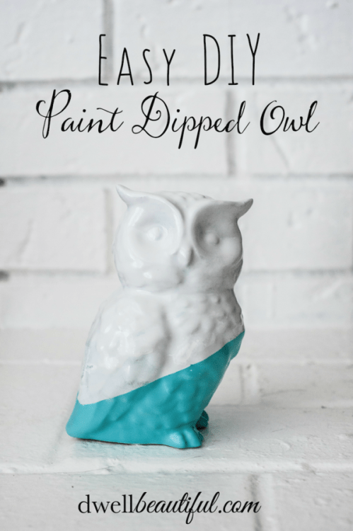 paint dipped owl-pin