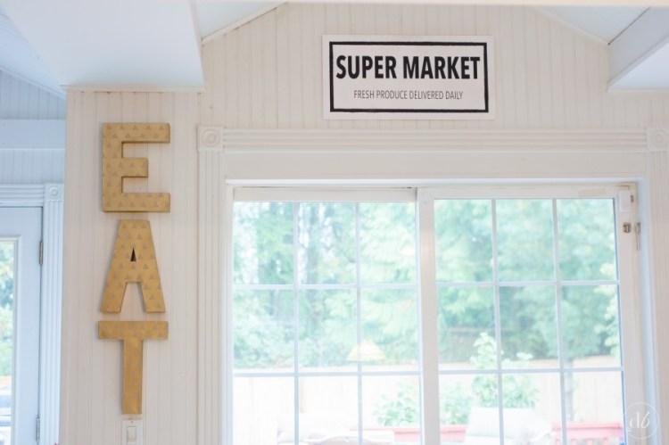 fixer upper inspired super market sign