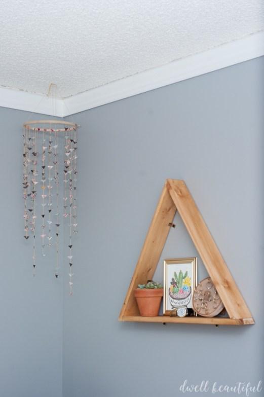 diy triangle shelves